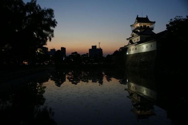 富山城址公園の夕景