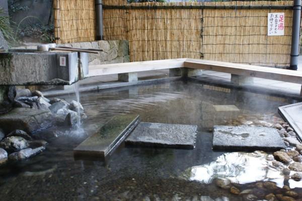山代温泉の源泉公園の足湯