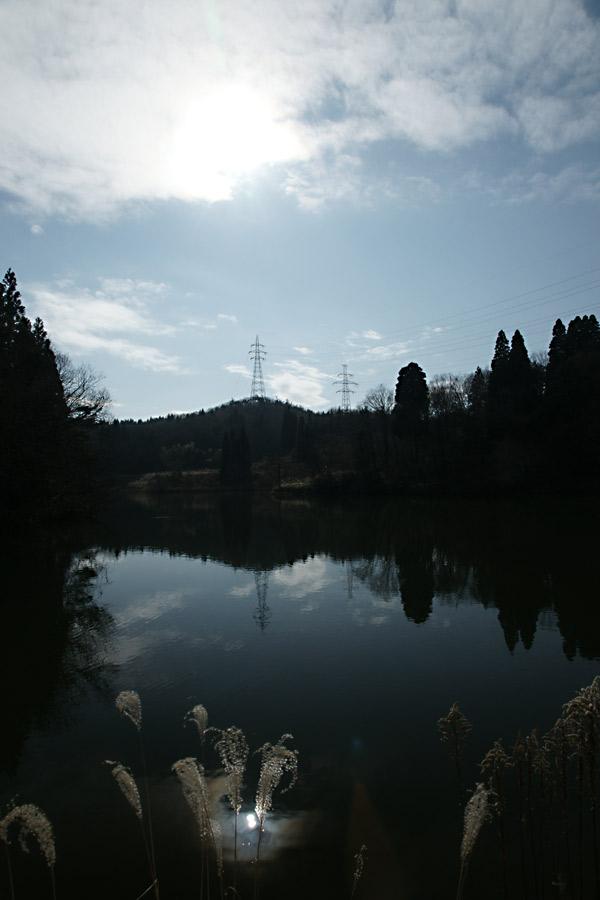水面に浮かぶ太陽