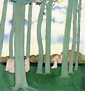 ドニ《木々の中の行列》
