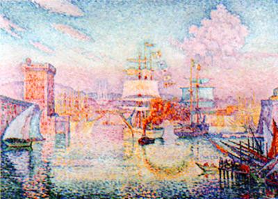 シャニック《マルセイユ港の入り口》